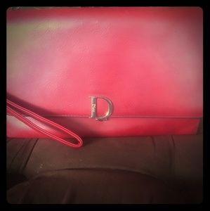 Red Christian Dior clutch